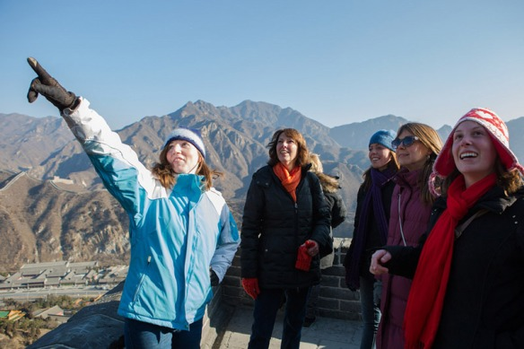 A group of us decided to climb the Great Wall. It was incredible!