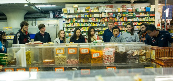 Chinese Language students visited Philadelphia's Chinatown this fall, where they toured with Master Chef Joseph Poon to learn more about Chinese traditions and culture.
